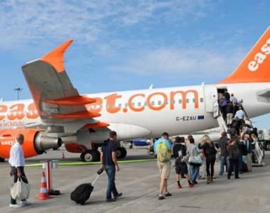 Transport aérien, voyageurs en groupe