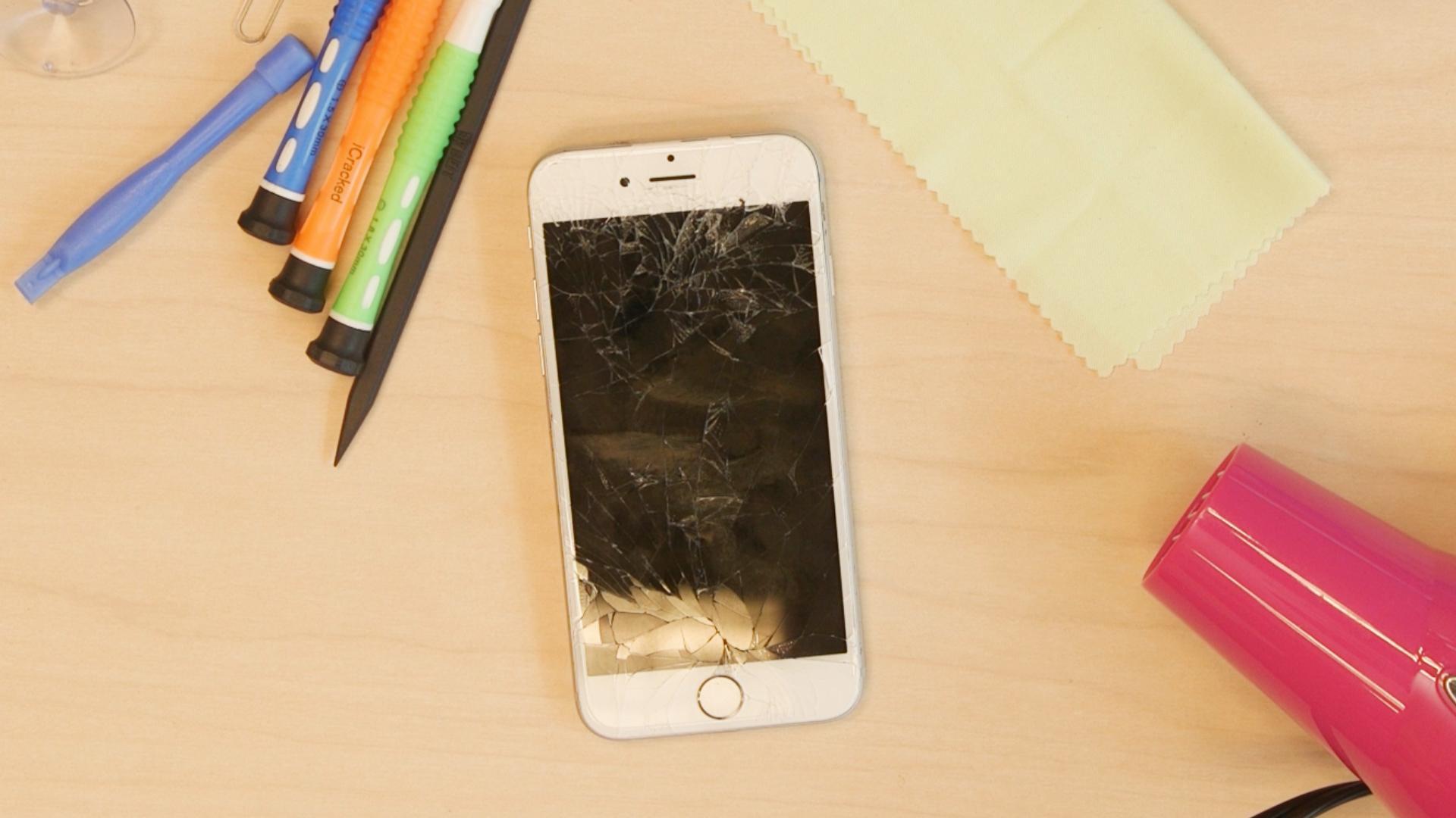 écran iPhone 7 cassé